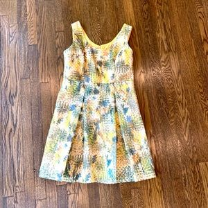 NY and Co Yellow Flared Dress Size 14